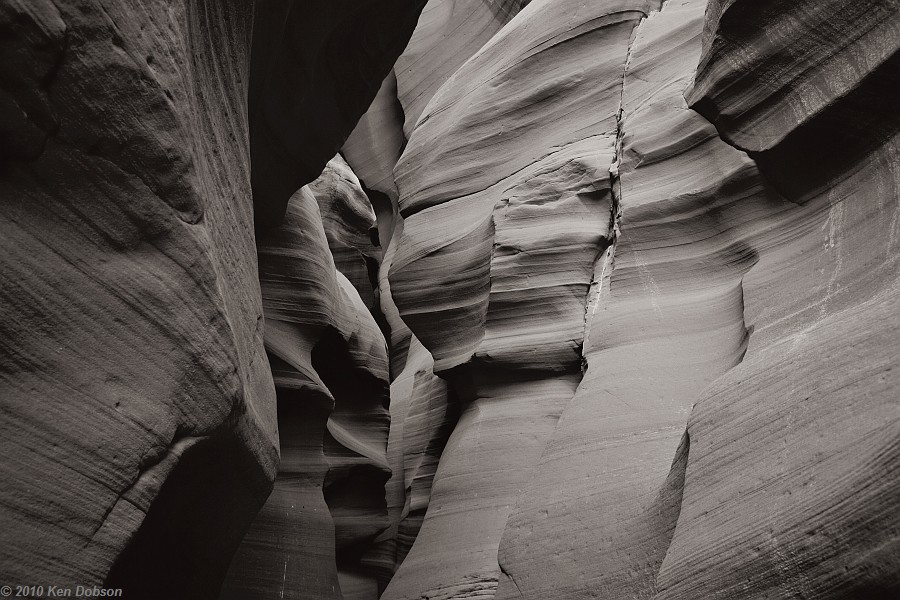 Antelope Canyon #7 (B&W version)
