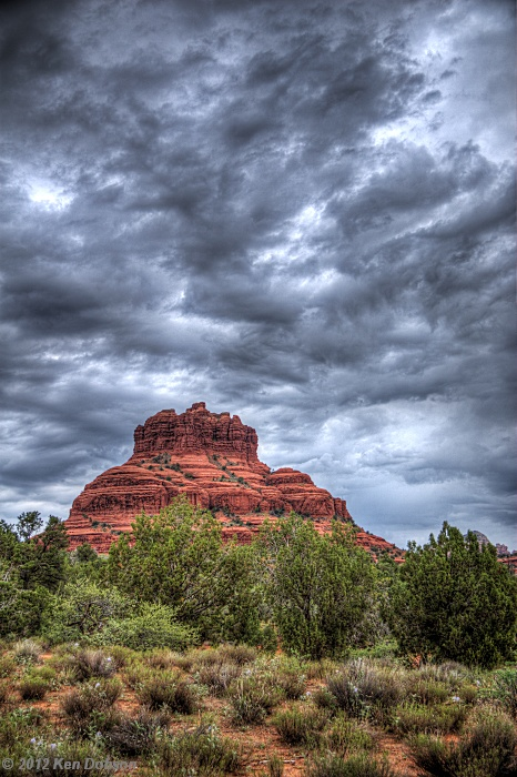 Storm over Bell Rock
