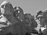 Mount Rushmore - Black and White