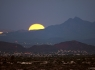 Moonset over the Tucson Mountains