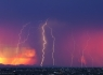 Coloful Sunset and Lightning