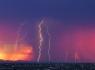 Coloful Sunset and Lightning